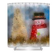 Snowman Photo Art 13 Shower Curtain