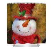 Snowman Photo Art 19 Shower Curtain