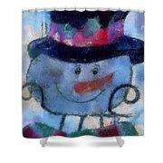 Snowman Photo Art 34 Shower Curtain