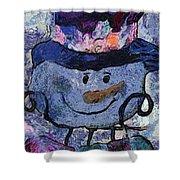 Snowman Photo Art 35 Shower Curtain
