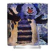 Snowman Photo Art 44 Shower Curtain