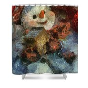 Snowman Photo Art 47 Shower Curtain