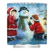 Snowman Song Shower Curtain