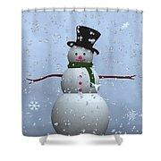 Snowman... Shower Curtain