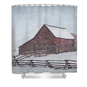 Snowstorm At The Ranch 2 Shower Curtain