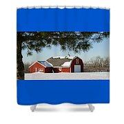 Snowy Barn-0087 Shower Curtain