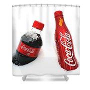 Snowy Coca - Cola Shower Curtain