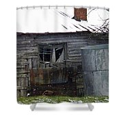 Snowy Day At The Old House Shower Curtain