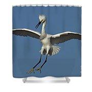 Snowy Egret Photo Shower Curtain
