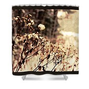 Snowy Flowes And Layers Shower Curtain
