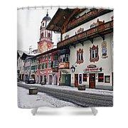 Snowy Good Friday Shower Curtain