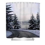 Snowy Gorge Shower Curtain