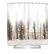 Snowy Hill Shower Curtain