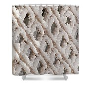 Snowy Lattice Vertical Shower Curtain