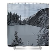 Snowy Meadow Shower Curtain