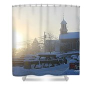Snowy Morning Shower Curtain