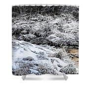 Snowy Mountain Stream V2 Shower Curtain