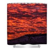 Snowy Mountain Sunset Shower Curtain