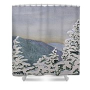 Snowy Mountains Of Nek Shower Curtain