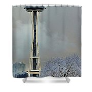 Snowy Needle Shower Curtain