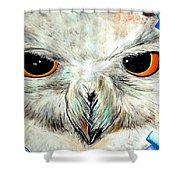 Snowy Owl - Female - Close Up Shower Curtain by Daniel Janda