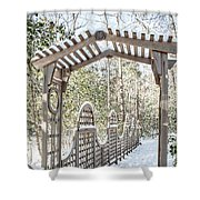 Snowy Promenade Shower Curtain