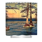 Snowy Reelfoot Shower Curtain