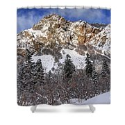 Snowy Ridge Above Bell Canyon - Wasatch Mountains - Utah Shower Curtain