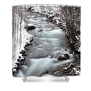 Snowy River At Mt. Hood Shower Curtain