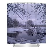 Snowy River Bend Shower Curtain