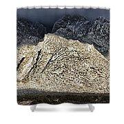 Snowy Sandia Mountain Range Huge Panorama 1150 Shower Curtain