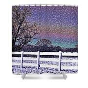 Snowy Snowy Night  Shower Curtain