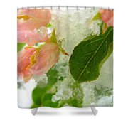 Snowy Spring 1 - Digital Painting Effect Shower Curtain