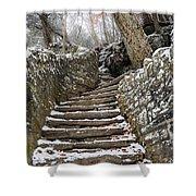 Snowy Steps Shower Curtain