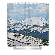 Snowy Terrain Near Top Of Trail Ridge Road In Rocky Mountain Np-co   Shower Curtain