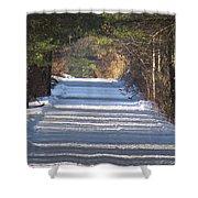 Snowy Trail Shower Curtain