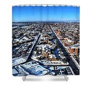 Snowy West Side Winter 2013 Shower Curtain