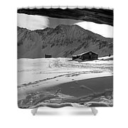 Snowy Window View Shower Curtain