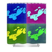So Cal Belly Tanker Shower Curtain by Naxart Studio