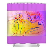 A Long Time Ago We Were So Incredibly Happy Together Shower Curtain