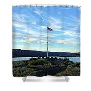 Soap Lake Washington Shower Curtain