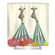 Soapsuds Shower Curtain