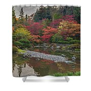 Soaring Fall Colors In The Arboretum Shower Curtain