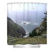 Soaring Over The Cliffs Shower Curtain
