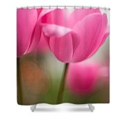Soaring Pink Tulips Shower Curtain