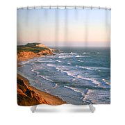 Socal Coastline Sunset Shower Curtain