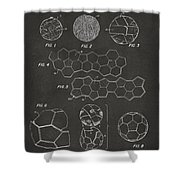 Soccer Ball Construction Artwork - Gray Shower Curtain