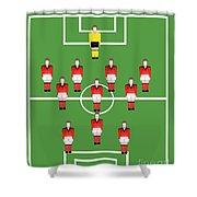 Soccer Team Football Players Shower Curtain