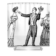 Society Hypnotist, 1900 Shower Curtain