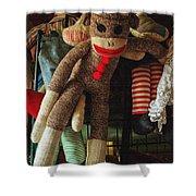 Sock Monkey Shower Curtain